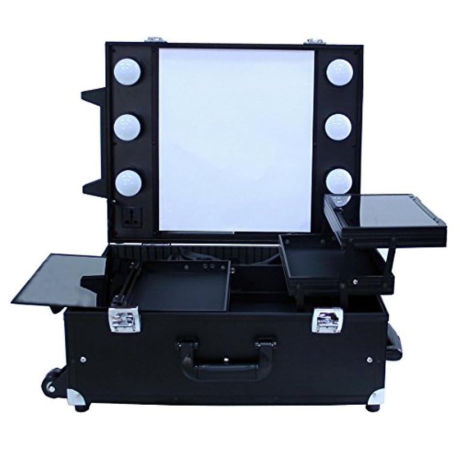 ワゴン勝利藤色プロ用卓上式メイクステーション|DB9552K|コスメボックス|メイク用品の収納に|Desktop Make station (ブラック)
