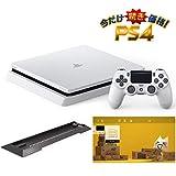 PlayStation 4 グレイシャー・ホワイト 1TB  (CUH-2200BB02) 【Amazon.co.jp限定】アンサー 縦置きスタンド付 & オリジナルカスタムテーマ (配信)