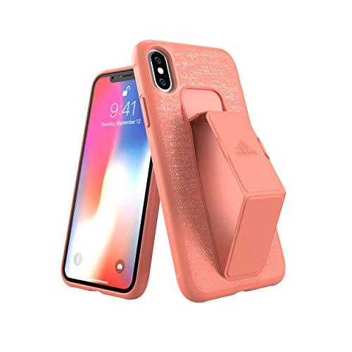 Adidas iPhone XS/Xケース SP Grip Case FW18 Chalk Coral 31697 NFD94