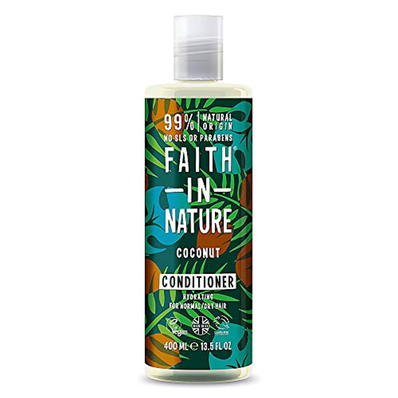 可塑性驚いたことに重なるFaith in Nature - Coconut Conditioner - 400ml