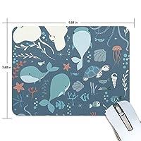 マウスパッド 海の動物 可愛い 疲労低減 ゲーミングマウスパッド 9 X 25 厚い 耐久性が良い 滑り止めゴム底 滑りやすい表面