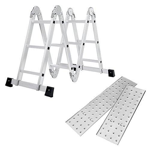 SAILUN はしご 梯子 ハシゴ 脚立 足場 万能はしご 多機能はしご 3.7m 専用プレート付 アルミはしご 折りた...