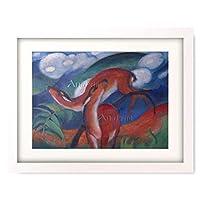 フランツ・マルク 「赤い鹿Ⅱ Die roten Rehe II. 1912.」 額装アート作品