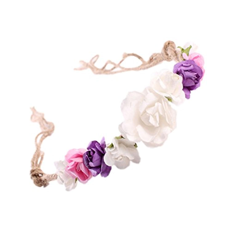 SONONIA 赤ちゃん 女の子 造花 王冠 ヘアバンド 髪飾り カチューシャ お花の冠 お花飾り ヘッドドレス 装飾