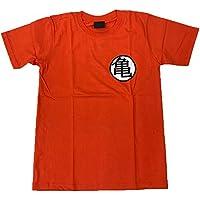 【並行輸入品】DRAGON BALL ドラゴンボール 亀Tシャツ プリントTシャツ ムービーTシャツ アニメキャラTシャツ オレンジ Sサイズ Mサイズ Lサイズ 男女兼用 ~Lサイズは短めワンピースとしても人気~
