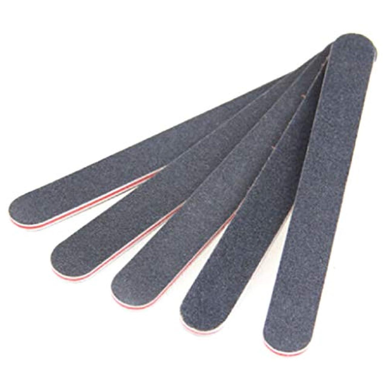 マニアック束ねる補助ジャッキー黒ストレート赤ハートネイルファイル黒両面ネイルアートマニキュアサンディングファイルバッファグリッツツール良い効果