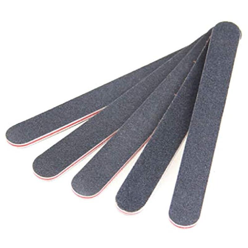 そばにシーズン財産ジャッキー黒ストレート赤ハートネイルファイル黒両面ネイルアートマニキュアサンディングファイルバッファグリッツツール良い効果