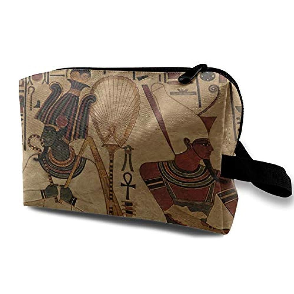 ひどい光のスチュワードEgyptian Mural 収納ポーチ 化粧ポーチ 大容量 軽量 耐久性 ハンドル付持ち運び便利。入れ 自宅?出張?旅行?アウトドア撮影などに対応。メンズ レディース トラベルグッズ