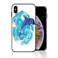 iPhone XS Max 携帯ケース イルカ 魚 青い 雲 波紋 海洋 抽象 ケース 最新製品 防塵 軽量 薄型 擦り傷防止 耐衝撃 全機種対応 スマホ用 ソフトケース 防塵 シリコン 人気 バンパーケース スリム設計 携帯カバー
