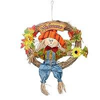 VOSAREAハロウィーンかかし花輪ぶら下げかかし飾りかかしガーランド秋秋収穫感謝祭の装飾(大/男性)