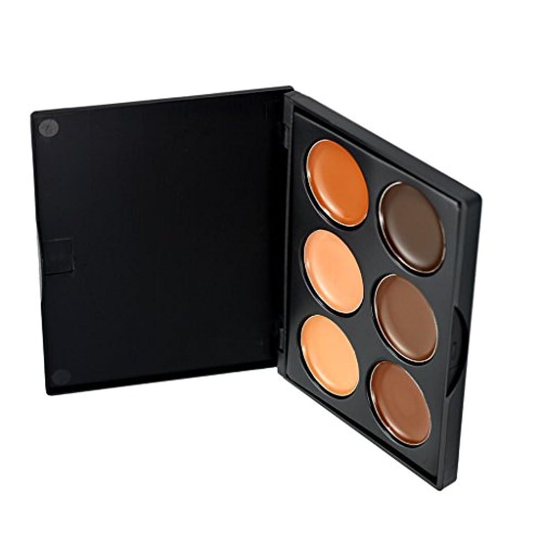 シロクマエールドラッグKesoto コンシーラー 6色パレット 化粧用 コンター フェイス 全3種選択可能     - #3