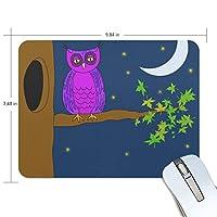 マウスパッド フクロウ 紫 ラバー 高級感 おしゃれ 滑り止め PC かっこいい かわいい プレゼント ラップトップ MacBook pro/DELL/HP/SAMSUNG などに プレゼント 疲労低減 光学式マウス対応 Jiemeil