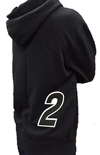 競輪 車番 パーカー 2番 ブラック (L)