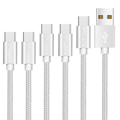 【5本セット0.2M*2/1M*2/1.8M】USB Type C ケーブル タイプCケーブル 3A急速充電 高速データ転送 Sony Xperia XZ/XZ2, Samsung Galaxy S9/S8/A3/A7/A9/C5/7pro/C9, Macbook Pro, Nexus 5X/6P, GoPro Hero 5/6 など多機種対応