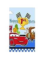 Cars 1st Birthday Plastic Table Cover (1ct) [並行輸入品]