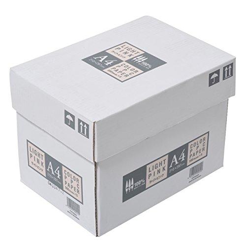 ジャパン カラーコピー用紙 A4 2500枚 500枚×5冊 ライトピンク