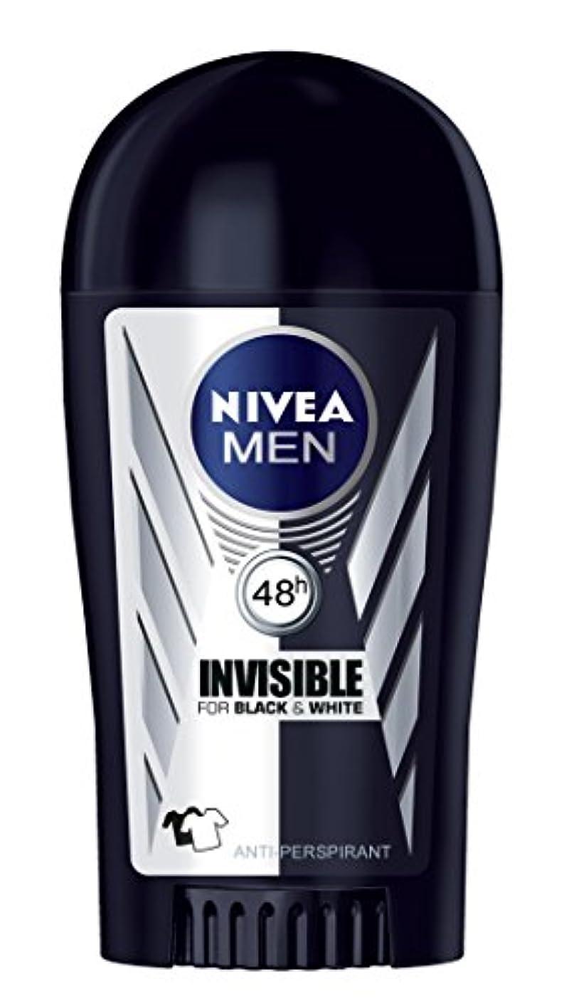 恐竜謝る骨の折れるNivea Invisible Black and White Anti-perspirant Deodorant Solid Stick for Men 40ml - ニベアインビジブルブラックそしてホワイト制汗剤デオドラントスティック...