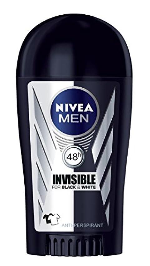 ピッチャー外科医国歌Nivea Invisible Black and White Anti-perspirant Deodorant Solid Stick for Men 40ml - ニベアインビジブルブラックそしてホワイト制汗剤デオドラントスティック...