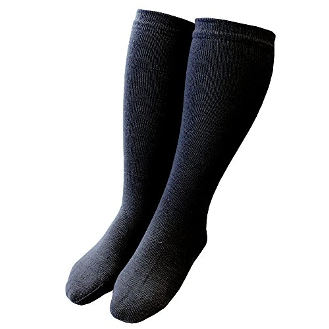 スチュワード領事館アンデス山脈カカトクリニック ハイソックス 履くだけ保湿 かかと 靴下 角質ケア 日本製 (ブラック, ハイソックス)
