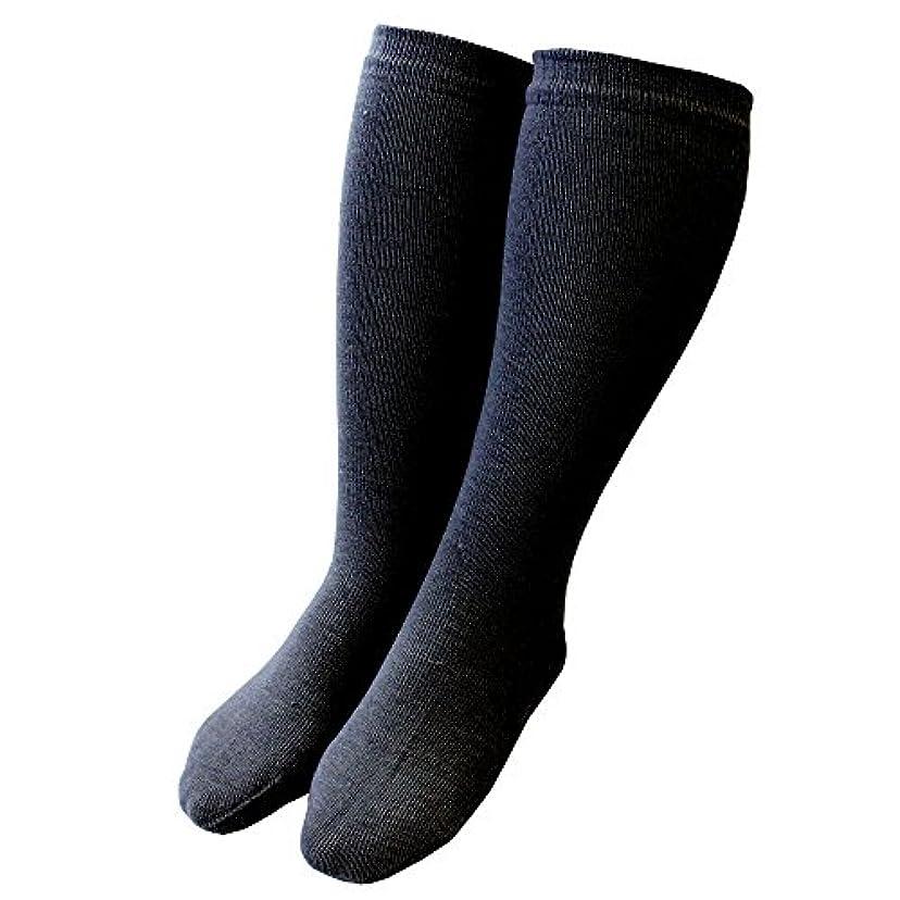 ドット下る合唱団カカトクリニック ハイソックス 履くだけ保湿 かかと 靴下 角質ケア 日本製 (ブラック, ハイソックス)