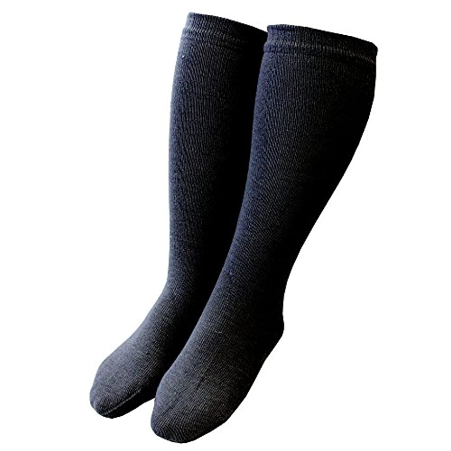 雪だるまを作るアプト輸血カカトクリニック ハイソックス 履くだけ保湿 かかと 靴下 角質ケア 日本製 (ブラック, ハイソックス)