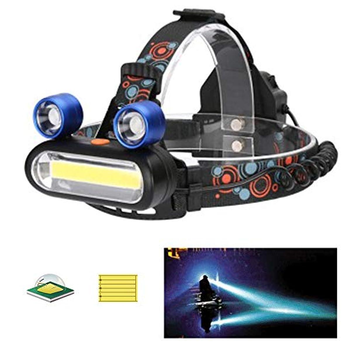光沢平均加速する発信スタイルの楽しみ5000LM XM-L T6 LEDヘッドランプヘッドライトトーチズーム可能2 x 18650バッテリー+充電器