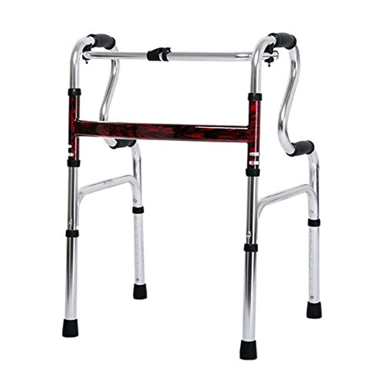 グラム真夜中うつリハビリテーション歩行器、多機能高齢者歩行ブラケット、身体障害者用両腕歩行器 (Color : 銀)