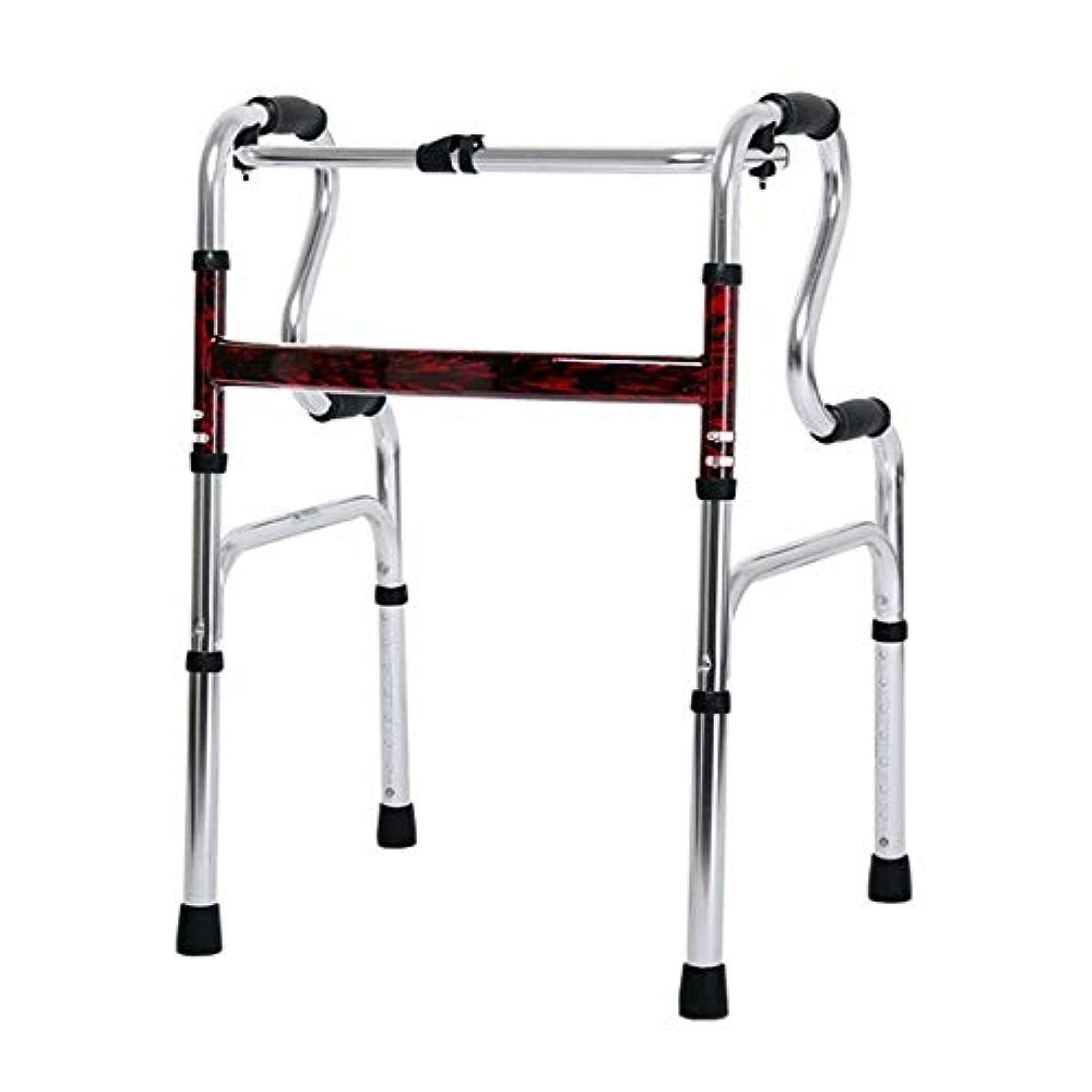 アルファベット祖母ハックリハビリテーション歩行器、多機能高齢者歩行ブラケット、身体障害者用両腕歩行器 (Color : 銀)
