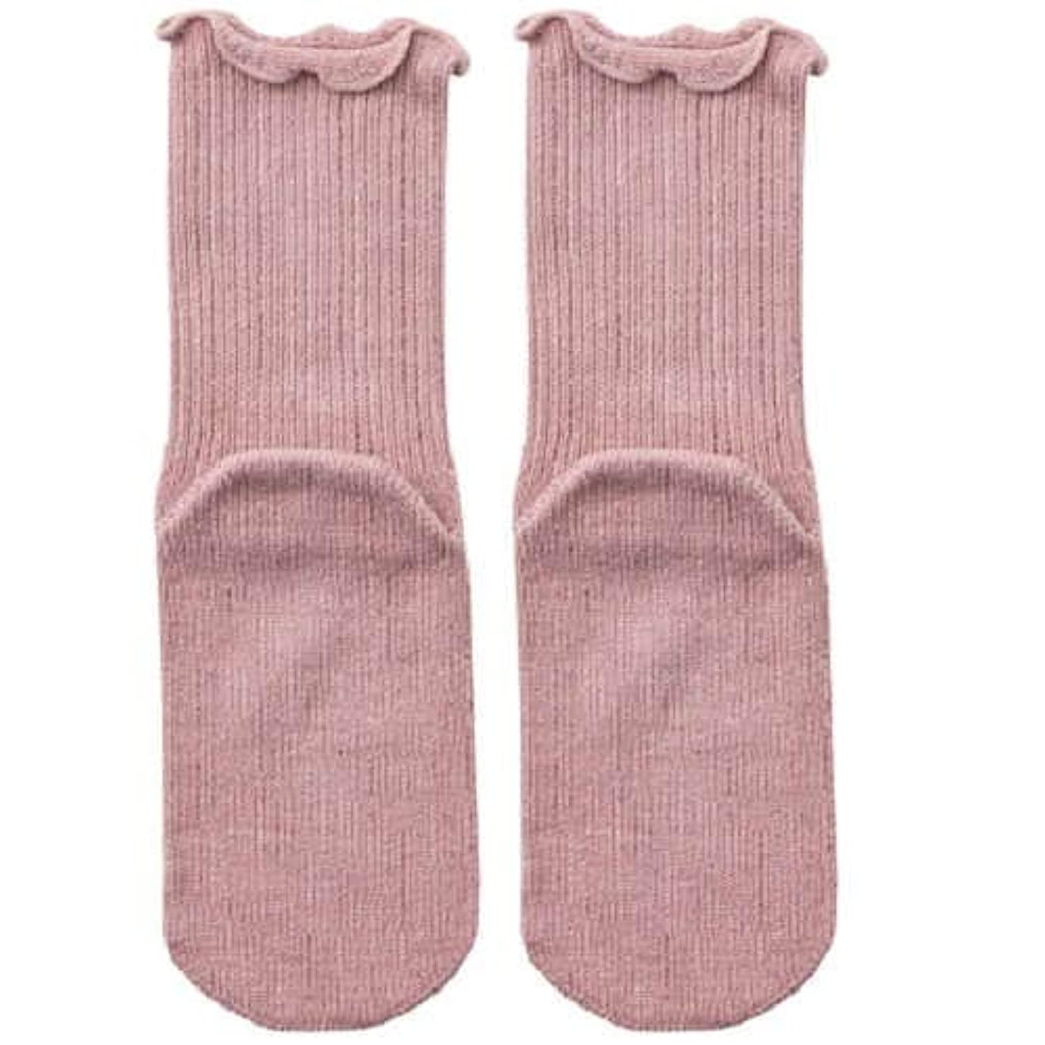 【むくみ】【骨折】 男女兼用 極上しめつけません 特大サイズ 靴下 (ローズ)