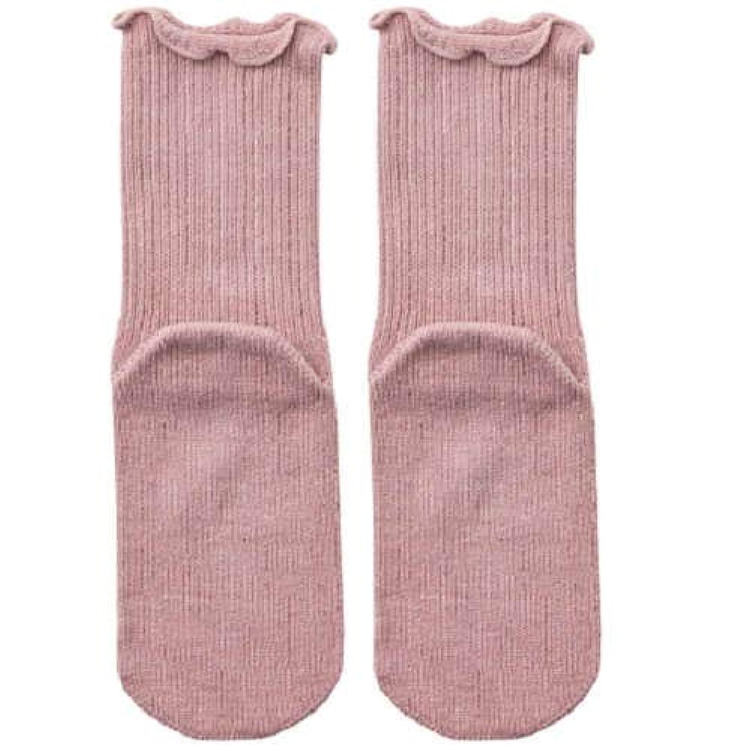 何かタップ実行【むくみ】【骨折】 男女兼用 極上しめつけません 特大サイズ 靴下 (ローズ)