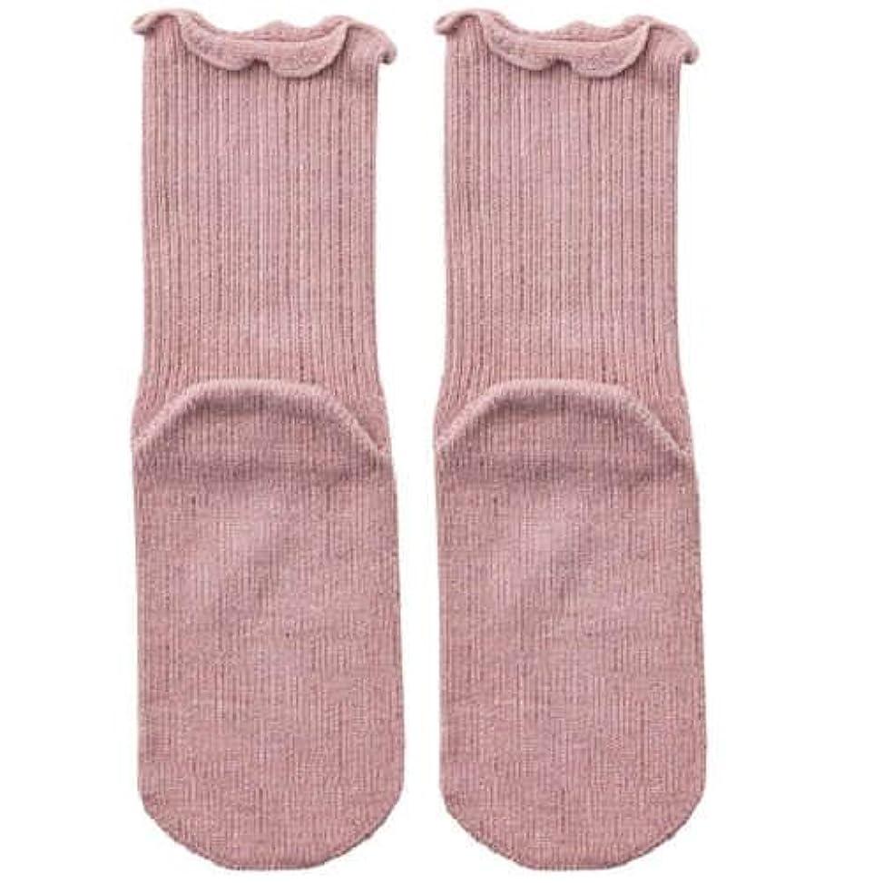 トランスペアレントドック平方【むくみ】【骨折】 男女兼用 極上しめつけません 特大サイズ 靴下 (ローズ)