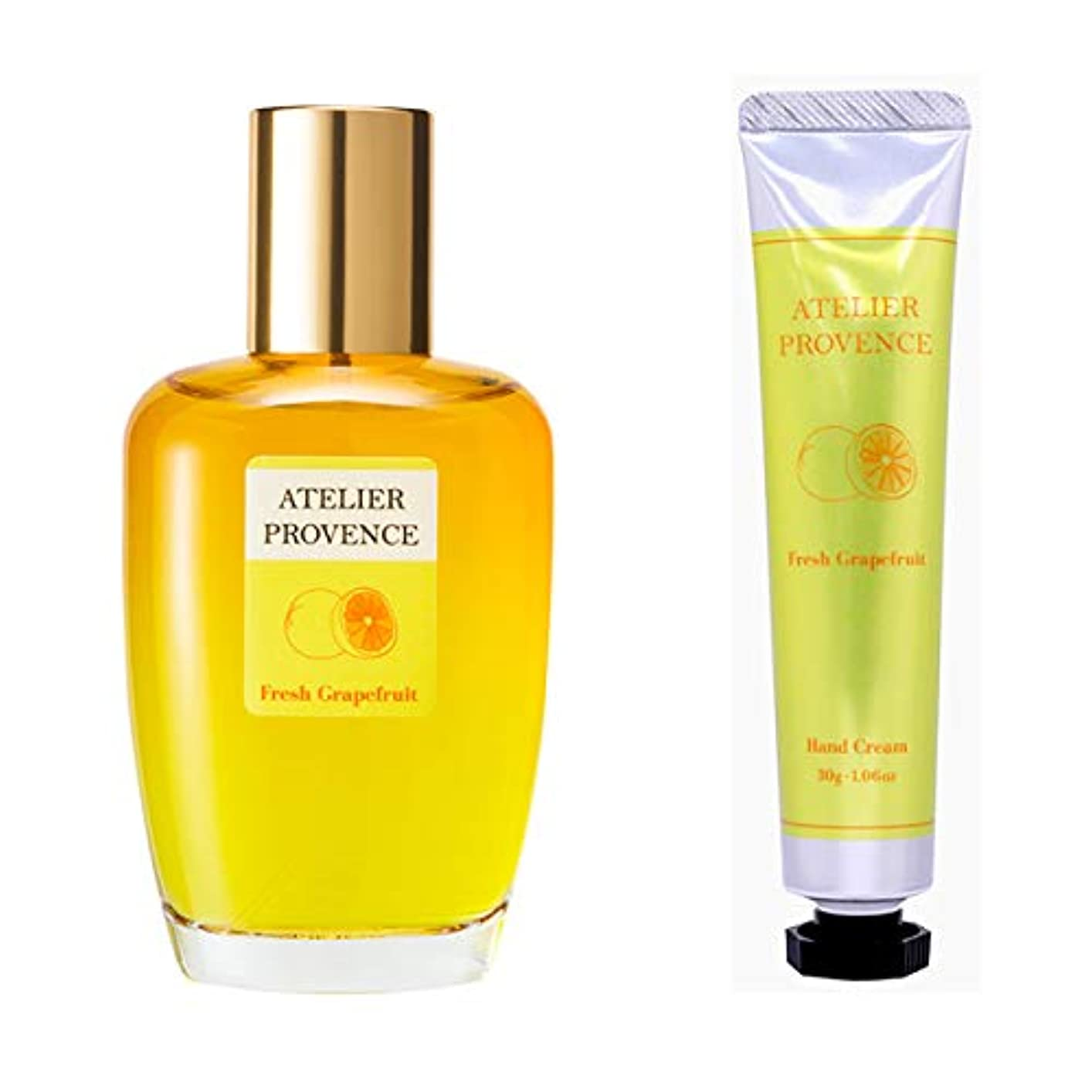 発送欠陥許容アトリエ プロヴァンス ATELIER PROVENCE フレッシュグレープフルーツの香り コフレセット(EDT90ml+ハンドクリーム30g)