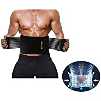 Men Sports Lumbar Support Belt Lower Back Braces for Fitness, Workout, Lower Back Pain Relief- Compression Waist Trainer Bands