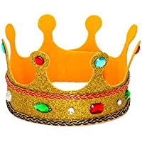 Jacobson Hat Company Child's Deluxe Glitter Jeweled King's Crown [並行輸入品]