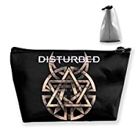 Disturbed Logo ディスターブド 収納袋 台形 小物収納 バッグ 高級 小物ポーチ 収納ポーチ 旅行/通勤/通学など用 収納便利グッズ 手提げ