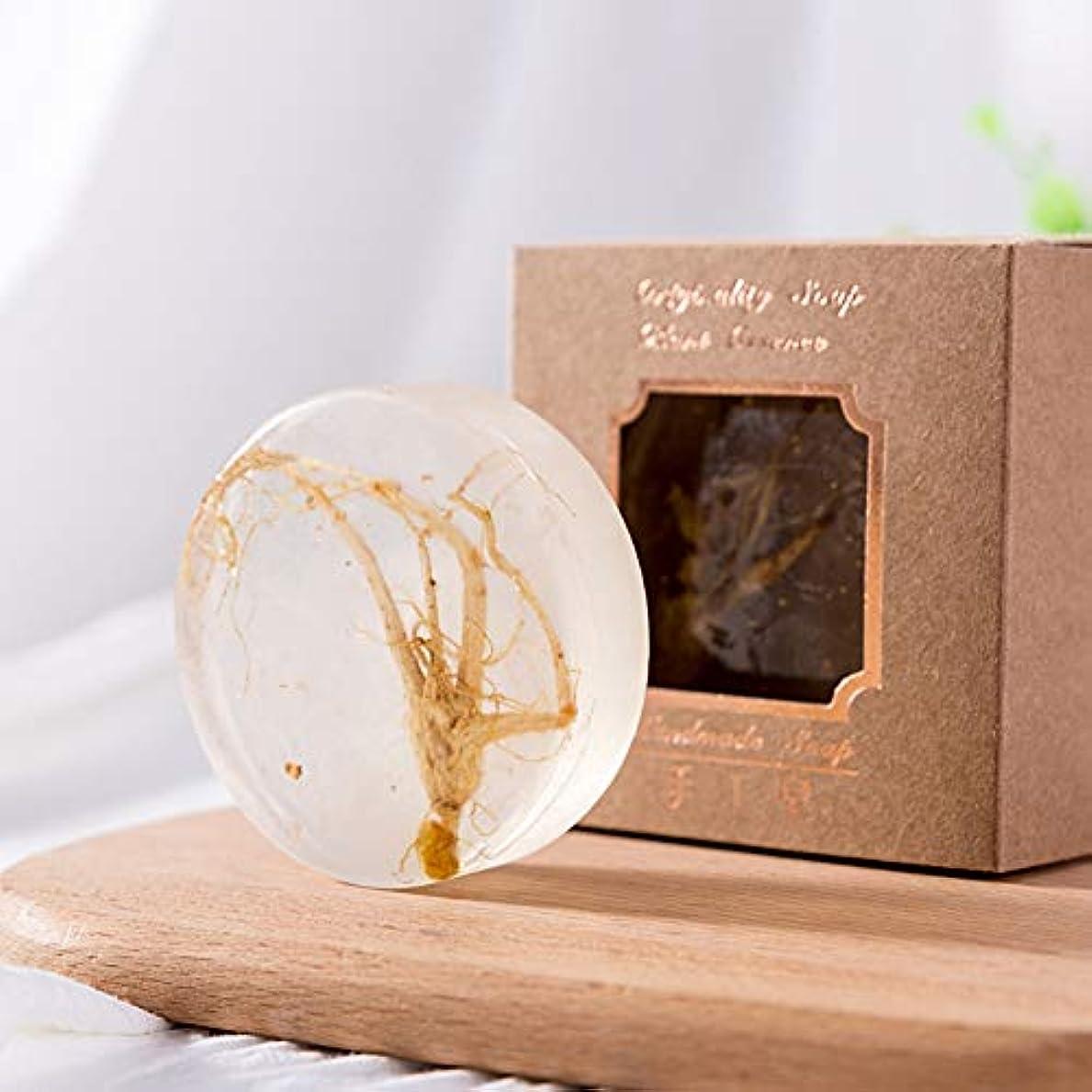 幻想挽く結婚高麗人参の金箔のエッセンシャルオイルの石鹸の収縮の気孔の深い清潔になるハンドメイドの顔の石鹸