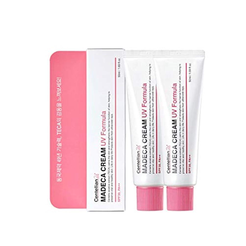 議題蛾胴体センテルリアン24マデカクリームUVフォーミュラ50mlx2本セットサンクリーム韓国コスメ、Centellian24 Madeca Cream UV Formula 50ml x 2ea Set Sun Cream Korean...
