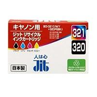 JIT キャノン リサイクルインク BCI-321、BCI-320 BCI-321 3色 C M Y +BCI-320PGBK マルチ パック 箱にキズ、汚れのあるアウトレット品です。.