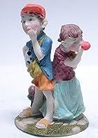 陶器 動物 人形 置物 パインフィールドコレクション【カップルP-3】