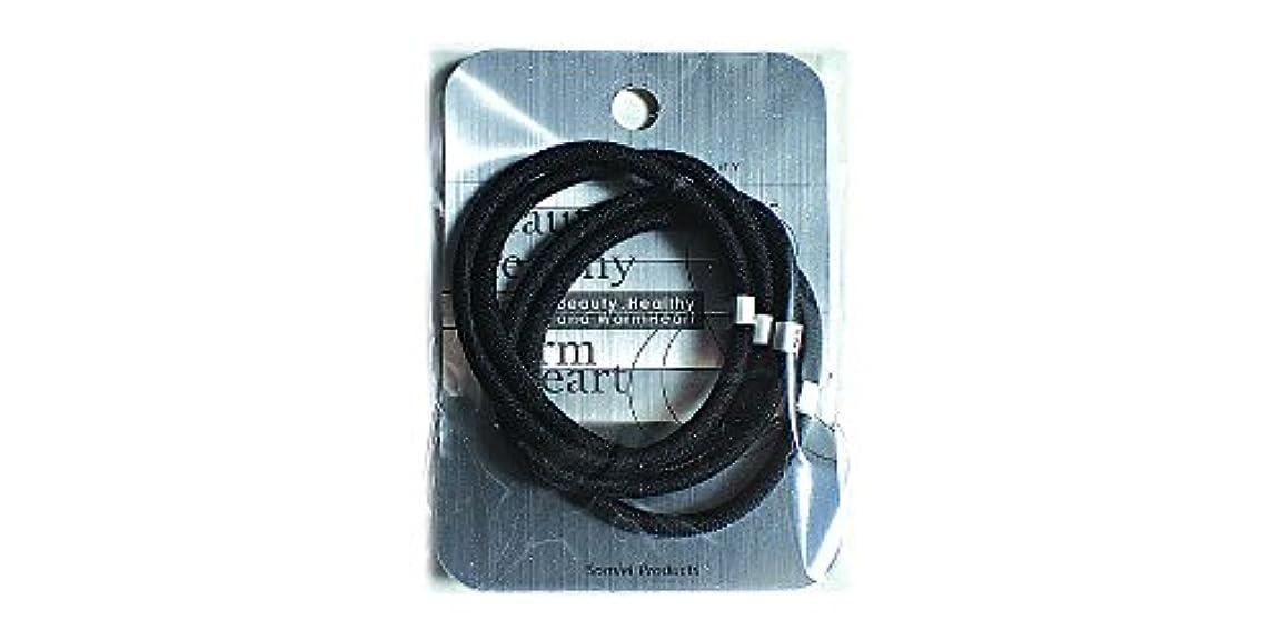 ペチュランスドア薬リングカラーゴム4P 黒 LV-108