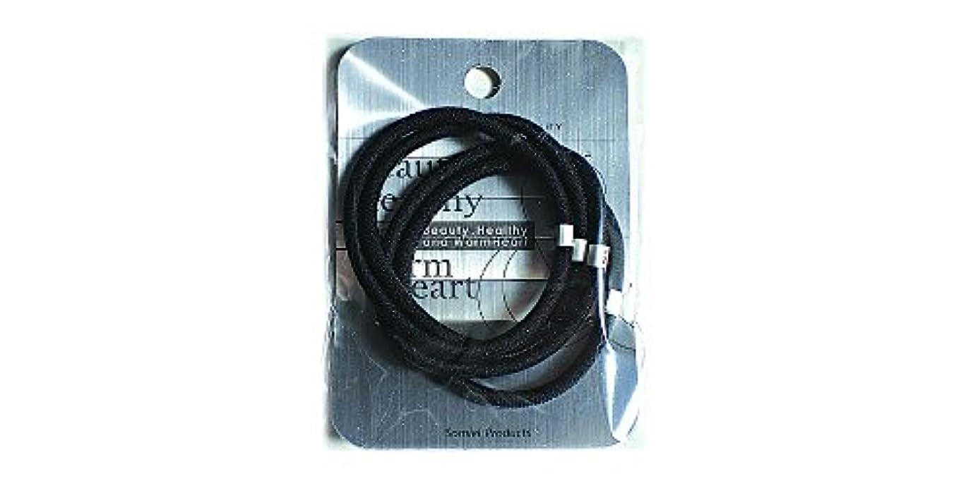 崩壊にぎやか換気するリングカラーゴム4P 黒 LV-108