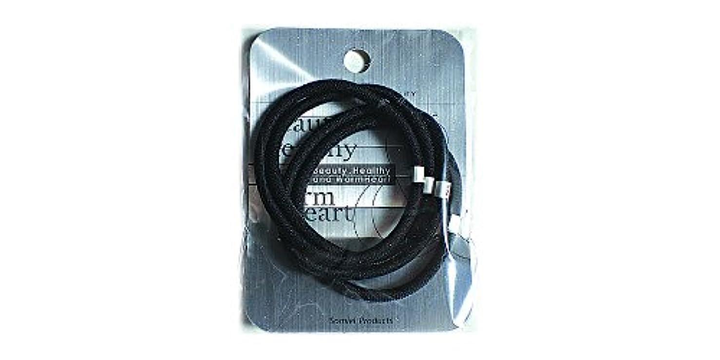 アルバニー理想的ティーンエイジャーリングカラーゴム4P 黒 LV-108
