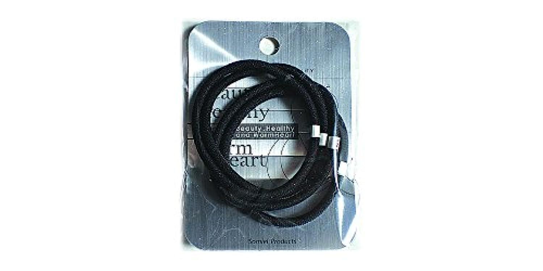 リングカラーゴム4P 黒 LV-108