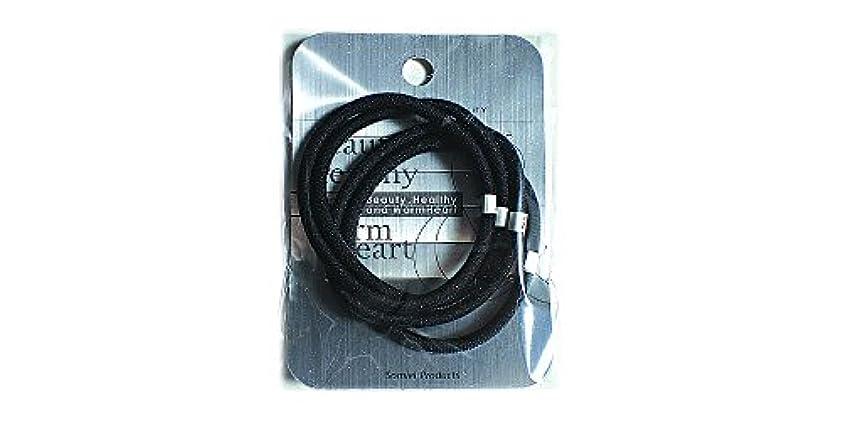 温室主張辞任するリングカラーゴム4P 黒 LV-108