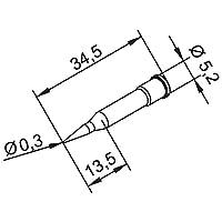 ersa はんだ先 ERSADUR 0102PDLF03L/SB 鉛フリー 0.3mm延長鉛筆