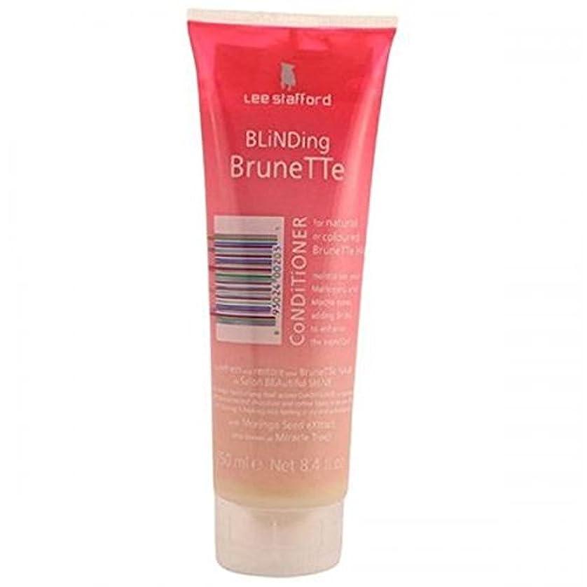 動作逆説銛Lee Stafford Blinding Brunette Conditioner For Natural & Coloured Hair 250ml