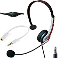 Voistek Wired Cell Phone Headset with Noise Canceling Boom Mic & Adjustable Headband for iPhone Samsung LG HTC Blackberry Huawei ZTE Mobile Phone & Most Smartphones with 3.5mm Headphone Jack (K10J35) [並行輸入品]