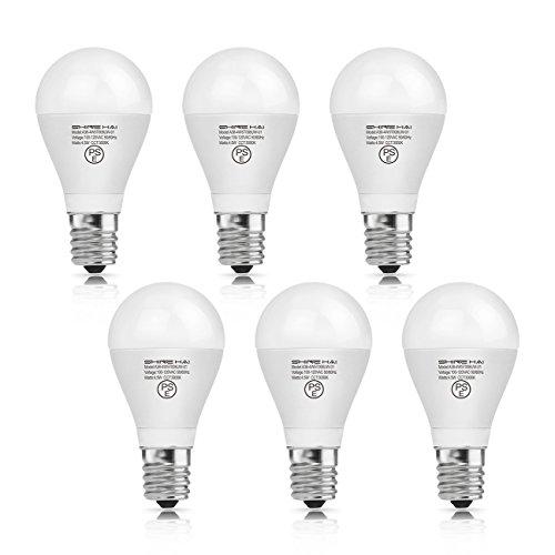 【セール!】SH LED電球 E17口金 白熱電球40W形相当 広配光タイプ 密閉形器具対応 断熱材施工器具対応 省エネ90% 3000K 電球色 LED 電球 e17 PSE認証 6個入 人気