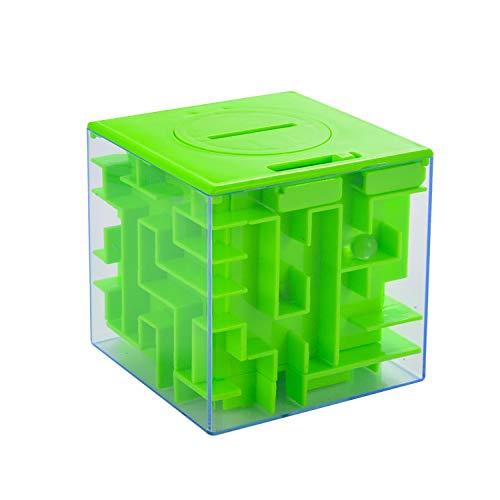 AlfaView 貯金箱 7.7*7.7 グリーン ABS ソフトバンク 立体迷路