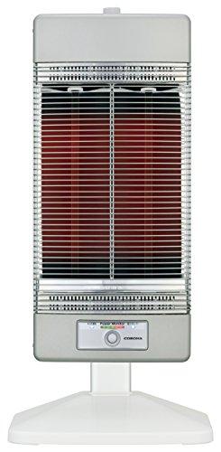 コロナ 遠赤外線電気ストーブ「コアヒート」(省エネセンサー搭載) シャンパンシルバー DH-1216R(SS)